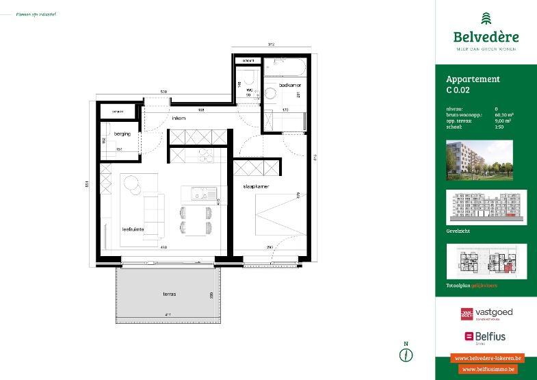 1 slaapkamer (fase 2)