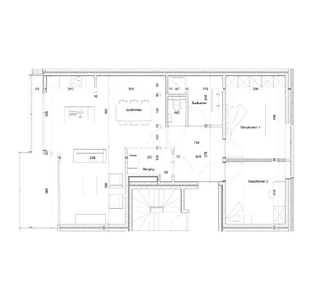 Typeplan De Novice - 2 slaapkamers