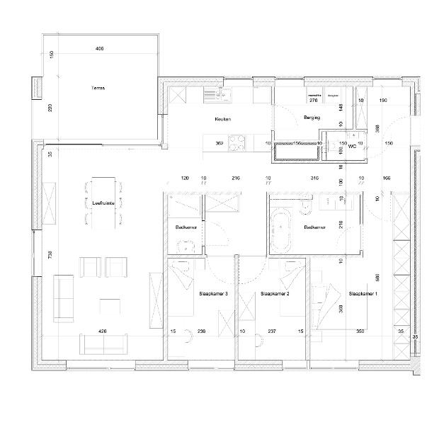 Typeplan De Prefect - 3 slaapkamers