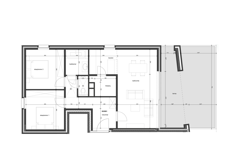 2 slaapkamers appartementen